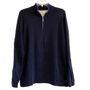 TOMMY BAHAMA Cashmere Blend Zip Pullover Sweater